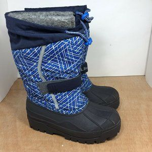 LL Bean Black and Blue Snow boots youth size 2